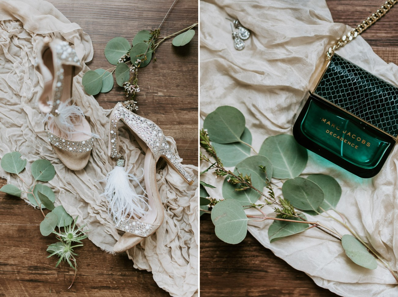 Fun and elegant wedding shoes for a boho-inspired wedding