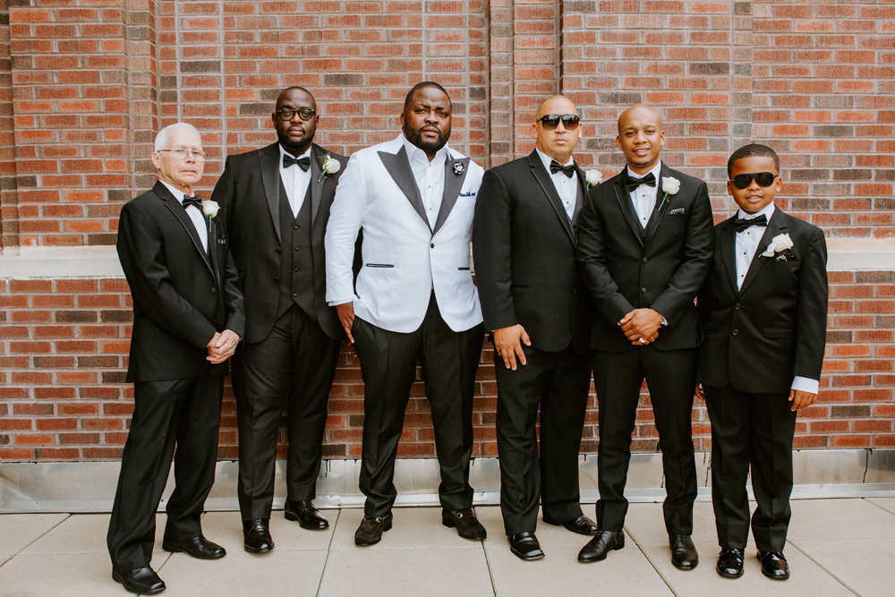 Groom and groomsmen at the Renaissance Hotel in Allentown PA