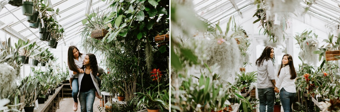 Greenhouse engagement Session in New Jersey, Anais Possamai Photography