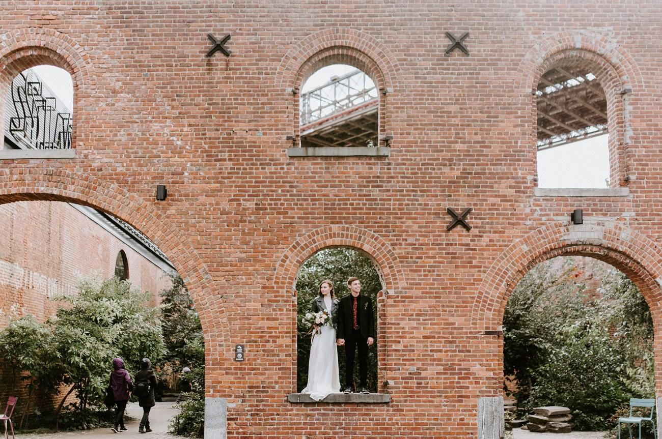 Brooklyn Dumbo wedding photos. Dumbo Brooklyn Bride and Groom elopement photos. Anais Possamai Photography. New York Wedding Photographer. NYC elopement Photographer