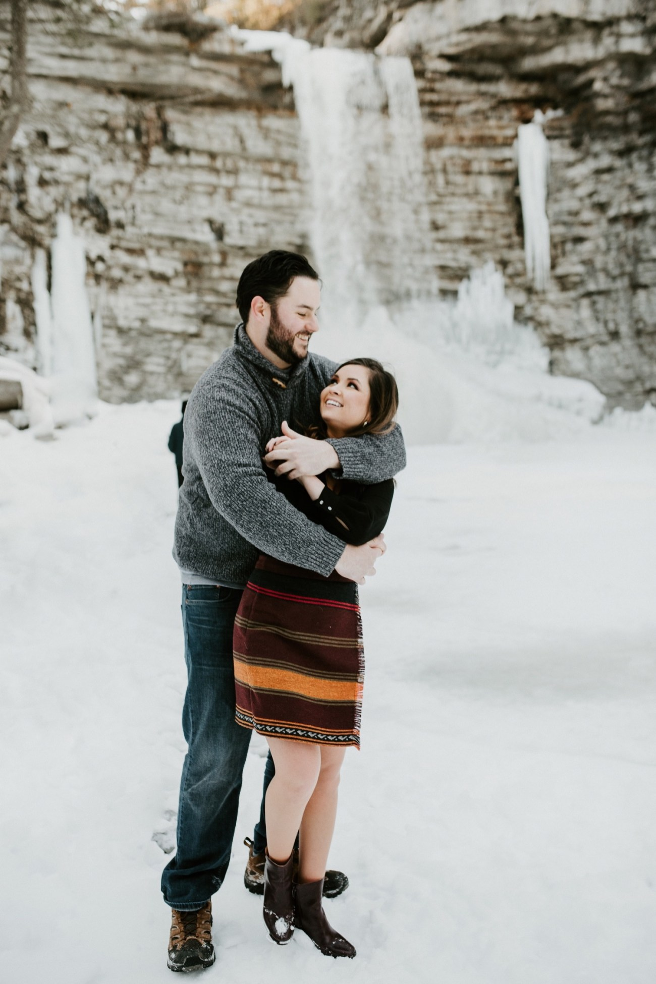 03 Minnewaska State Park Minnewaska Engagement Session Winter Engagement Adventurous Engagement