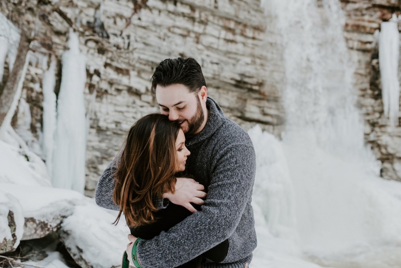 04 Minnewaska State Park Minnewaska Engagement Session Winter Engagement Adventurous Engagement