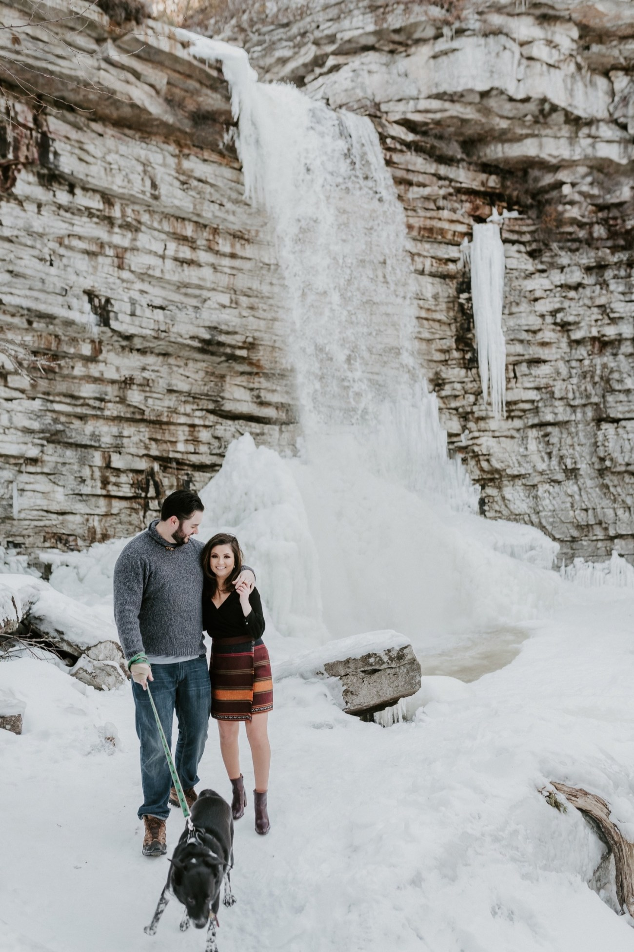 09 Minnewaska State Park Minnewaska Engagement Session Winter Engagement Adventurous Engagement