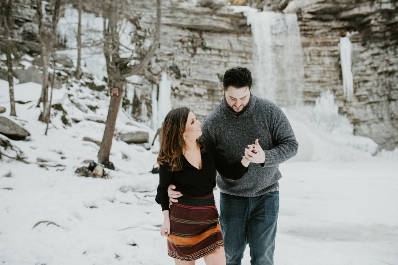 11 Minnewaska State Park Minnewaska Engagement Session Winter Engagement Adventurous Engagement
