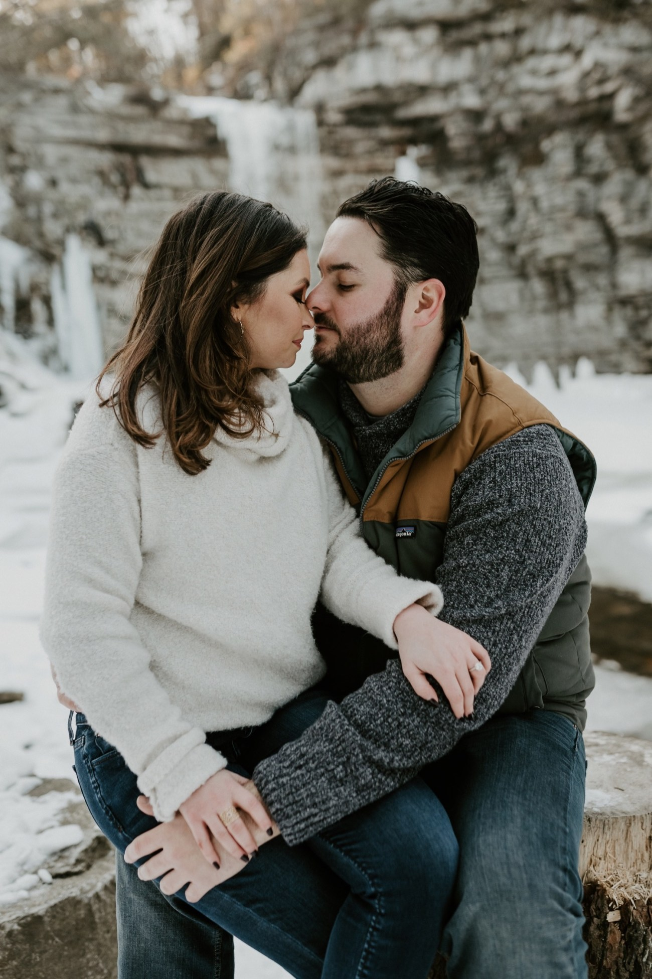 12 Minnewaska State Park Minnewaska Engagement Session Winter Engagement Adventurous Engagement