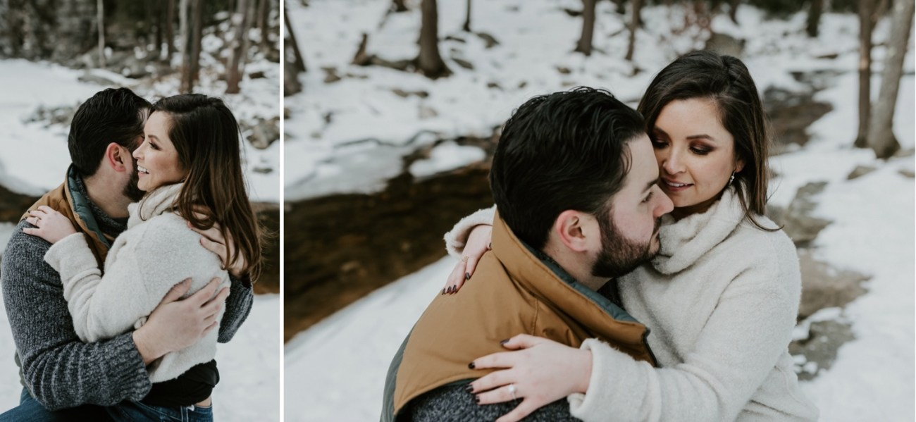 14 Minnewaska State Park Minnewaska Engagement Session Winter Engagement Adventurous Engagement