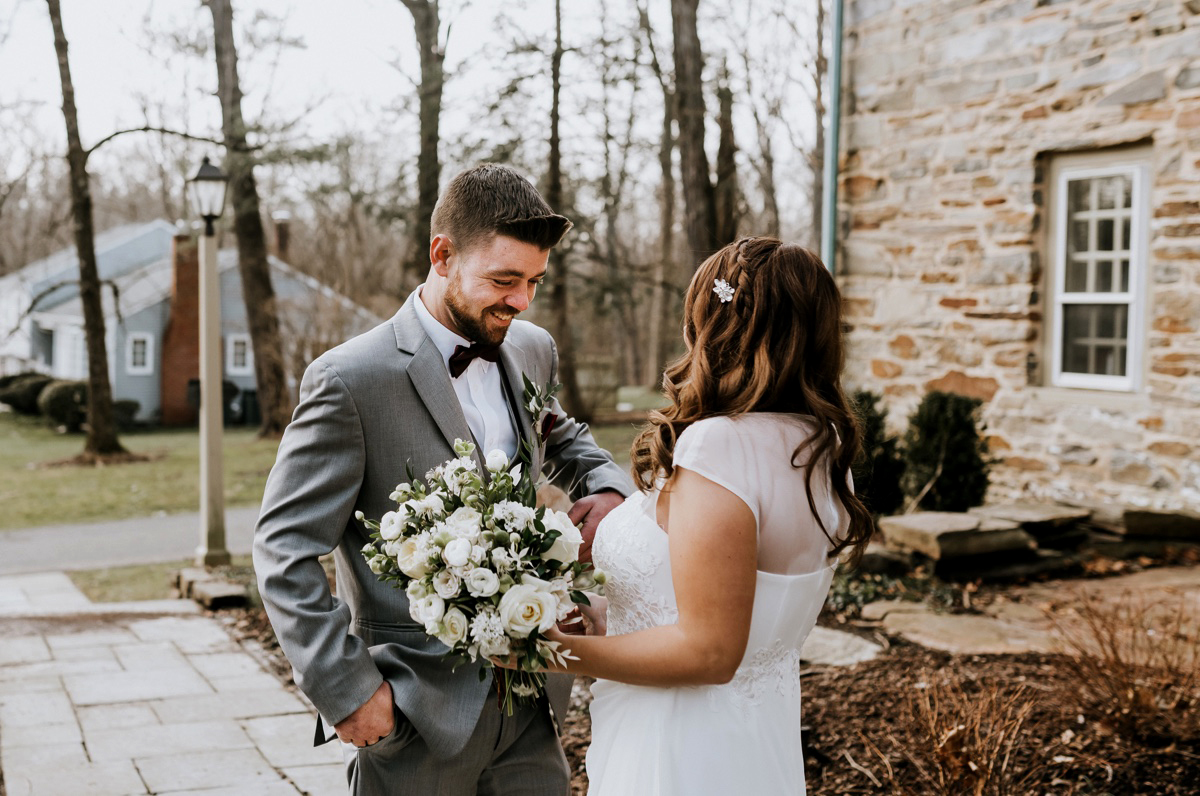 19 The Inn At Glencairn Winter Wedding Inspiration Winter Elopement Princeton Wedding Photographer NJ Wedding Photographer