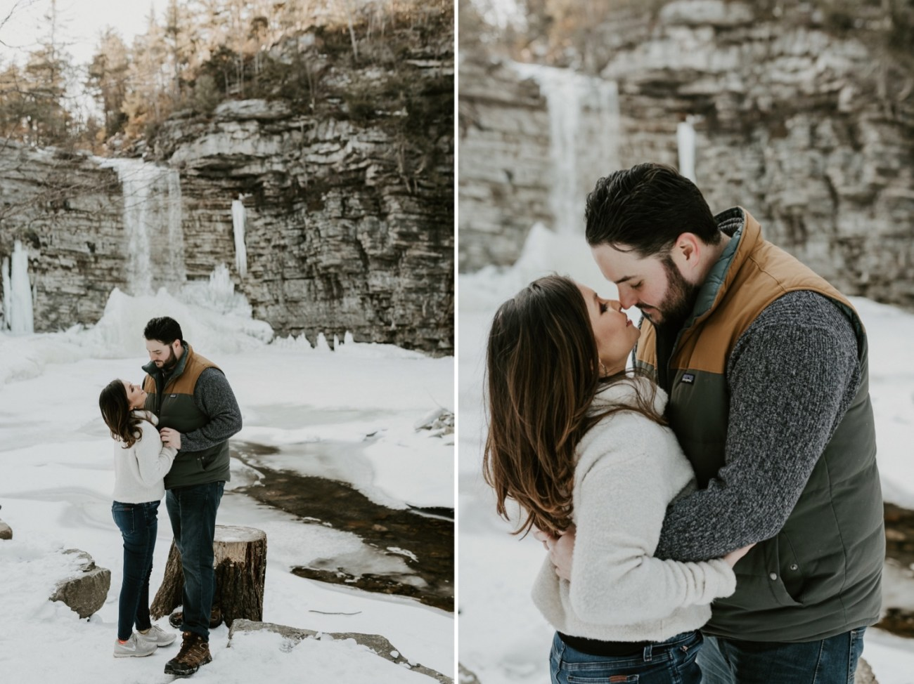 20 Minnewaska State Park Minnewaska Engagement Session Winter Engagement Adventurous Engagement