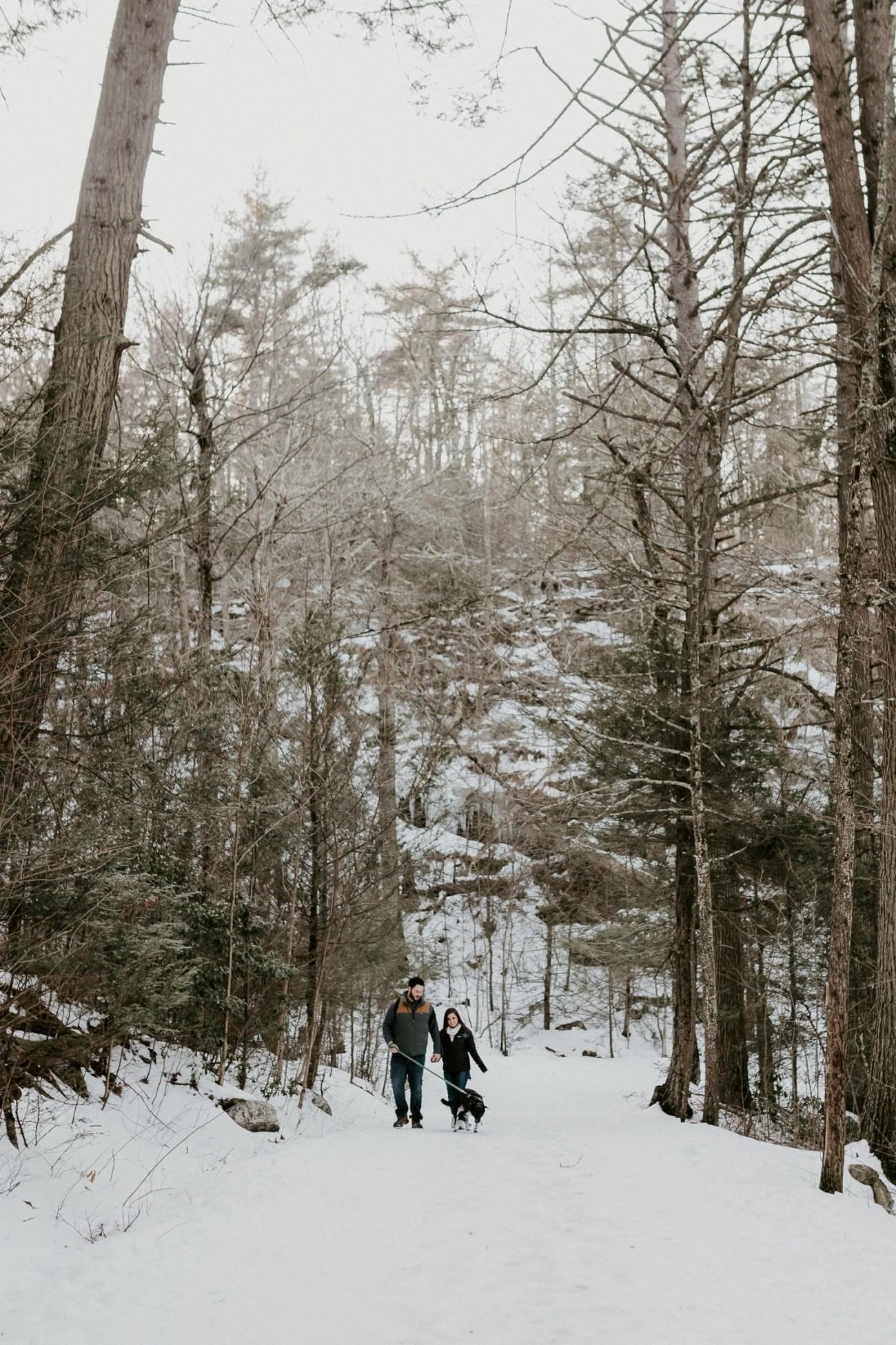 23 Minnewaska State Park Minnewaska Engagement Session Winter Engagement Adventurous Engagement
