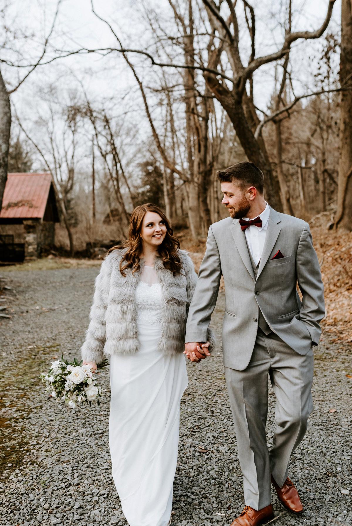 44 The Inn At Glencairn Destination Wedding Photographer Winter Elopement New Jersey Wedding Photographer Intimate Wedding