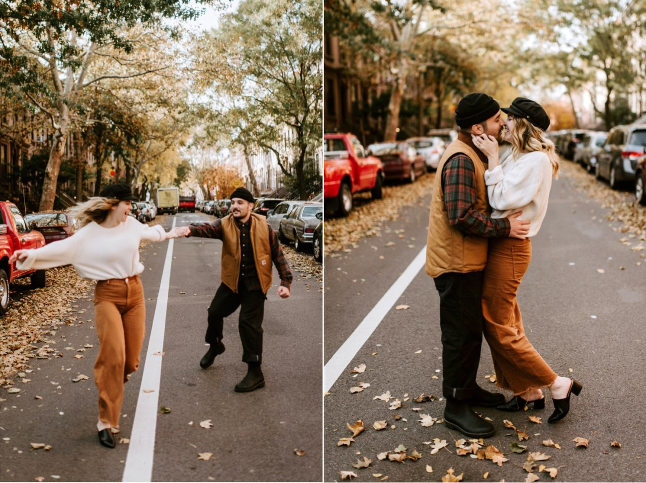 06 Brooklyn Wedding Photographer Brooklyn Engagement Session 501 Union Brooklyn Fall Engagement Session