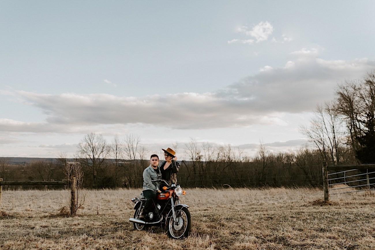 Motorcycle Ecouple Session Winter Couple Session NJ Wedding Photographer 2451
