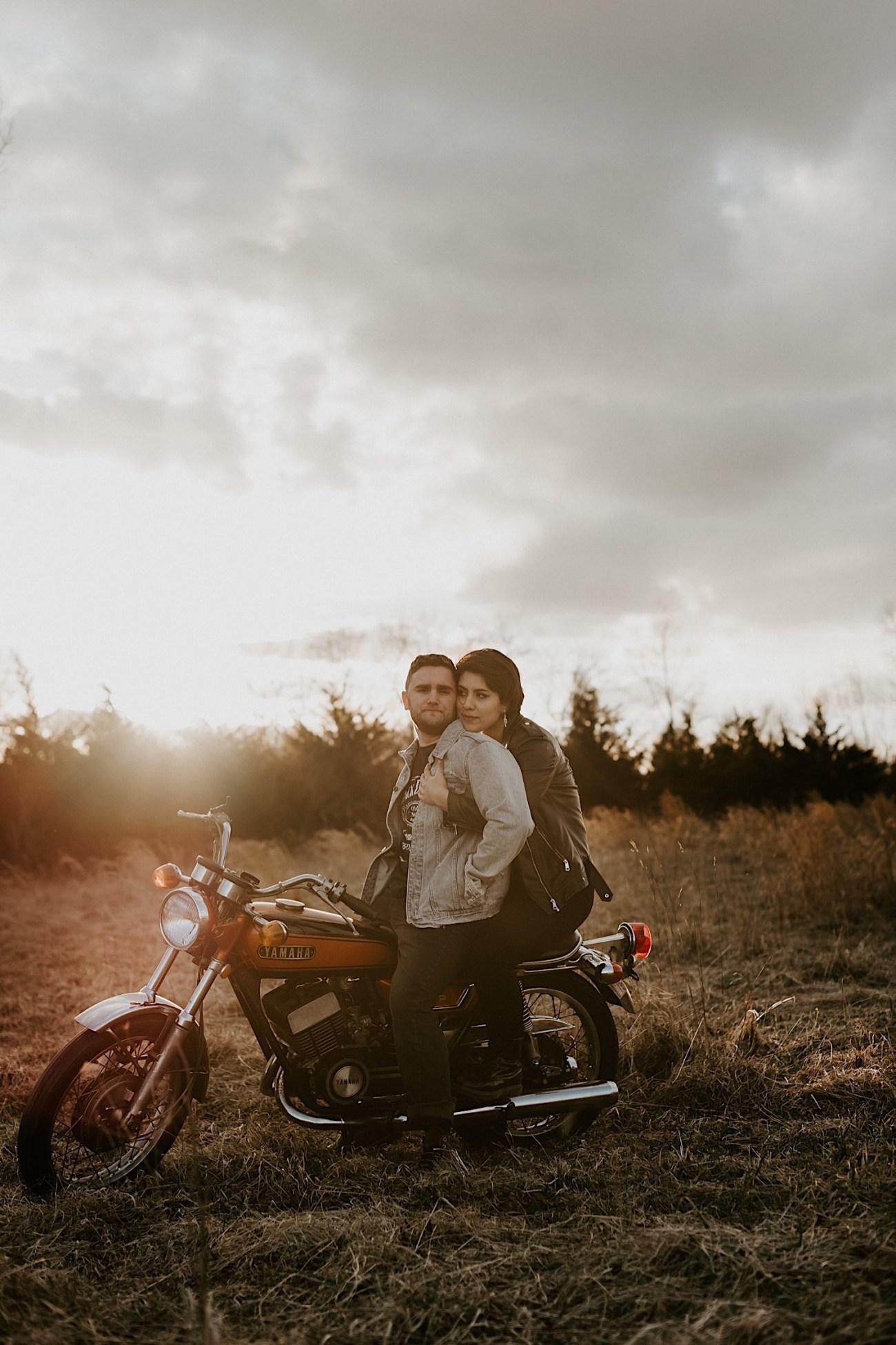 Motorcycle Ecouple Session Winter Couple Session NJ Wedding Photographer 2462