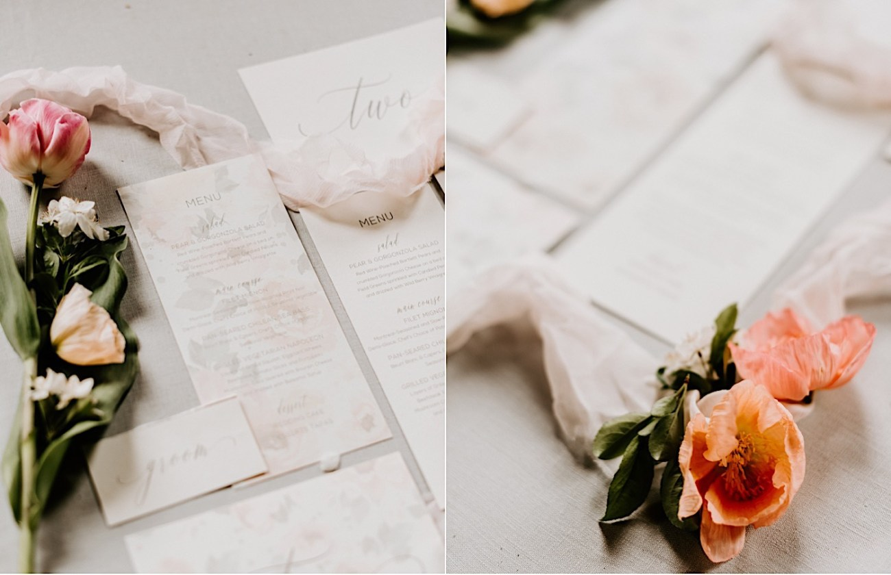 Wedding invitations inspiration. Blush pink romantic wedding invitations. Barnsley Manor wedding. Philadelphia Wedding Venue