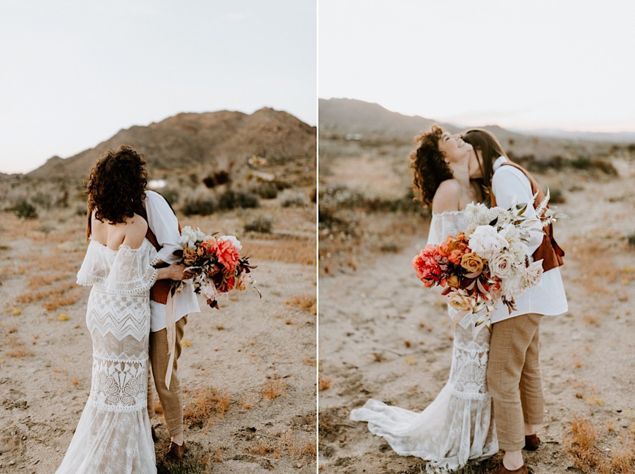 Joshua Tree Same Sex Wedding Joshua Tree Wedding Photographer Palm Springs Wedding Photographer 47