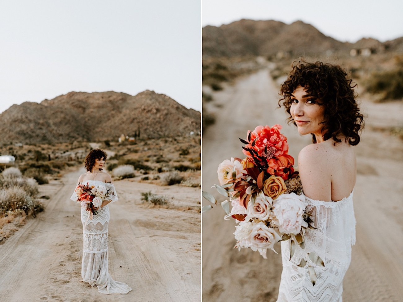 Best boho inspired wedding gown by Grace Loves Lace, Boho Joshua Tree Elopement, Palm Springs Wedding Photographer