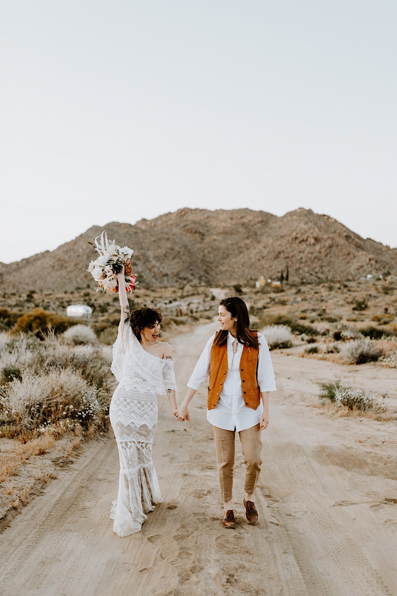 Joshua Tree Same Sex Wedding Joshua Tree Wedding Photographer Palm Springs Wedding Photographer 53