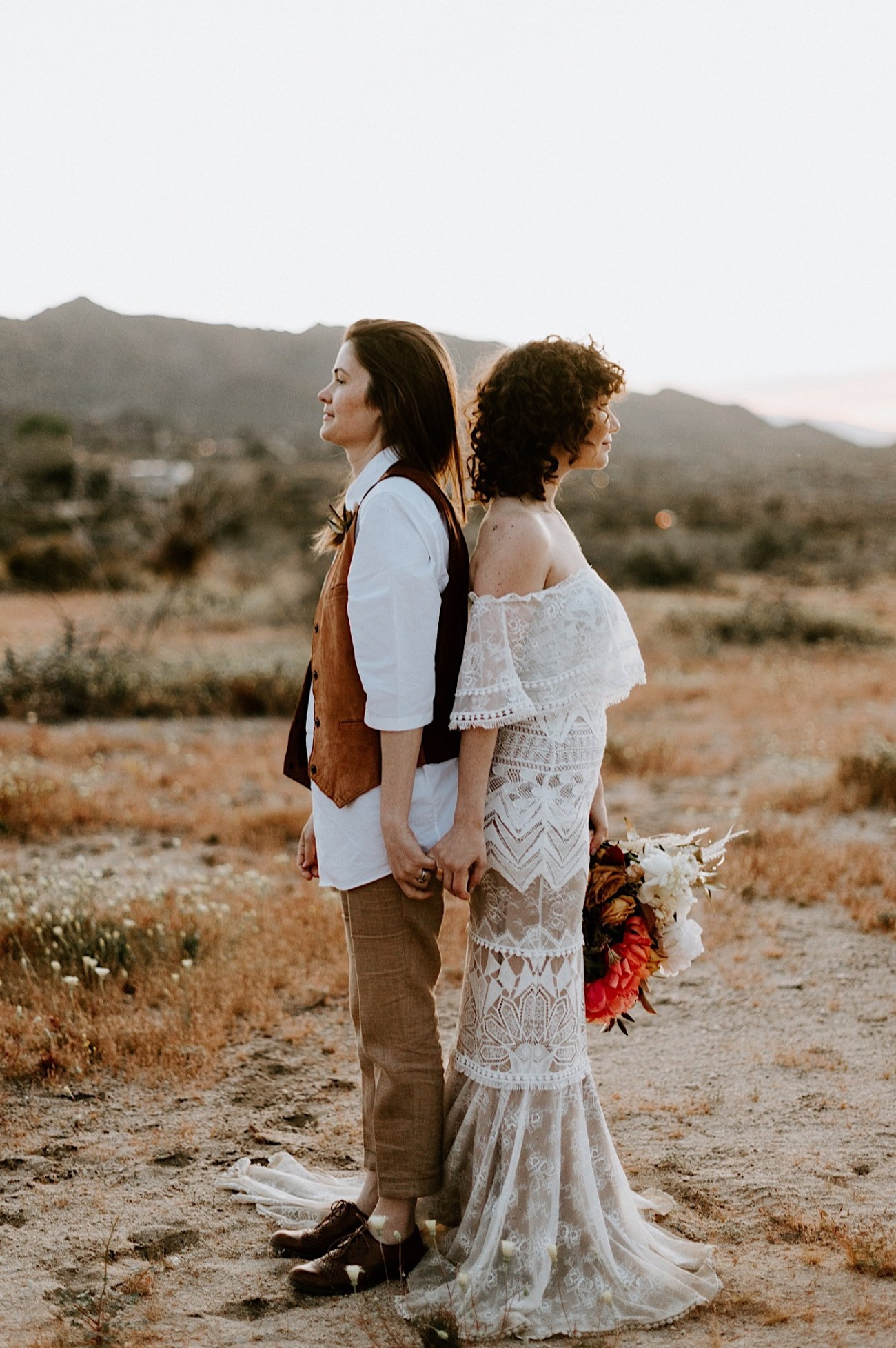 Joshua Tree Same Sex Wedding Joshua Tree Wedding Photographer Palm Springs Wedding Photographer 60