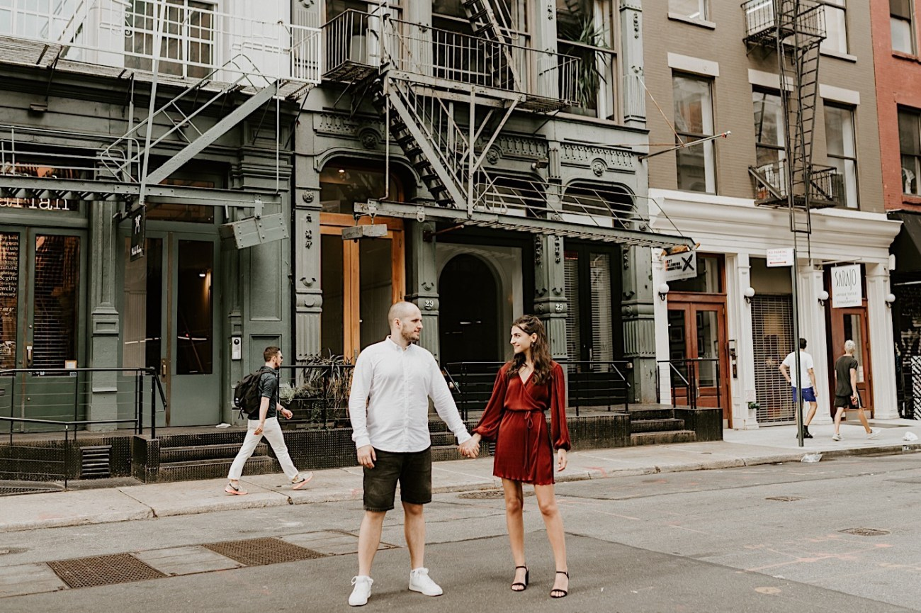 Soho Engagement Session NYC Wedding Photographer Manhattan Engaegement Locations 17