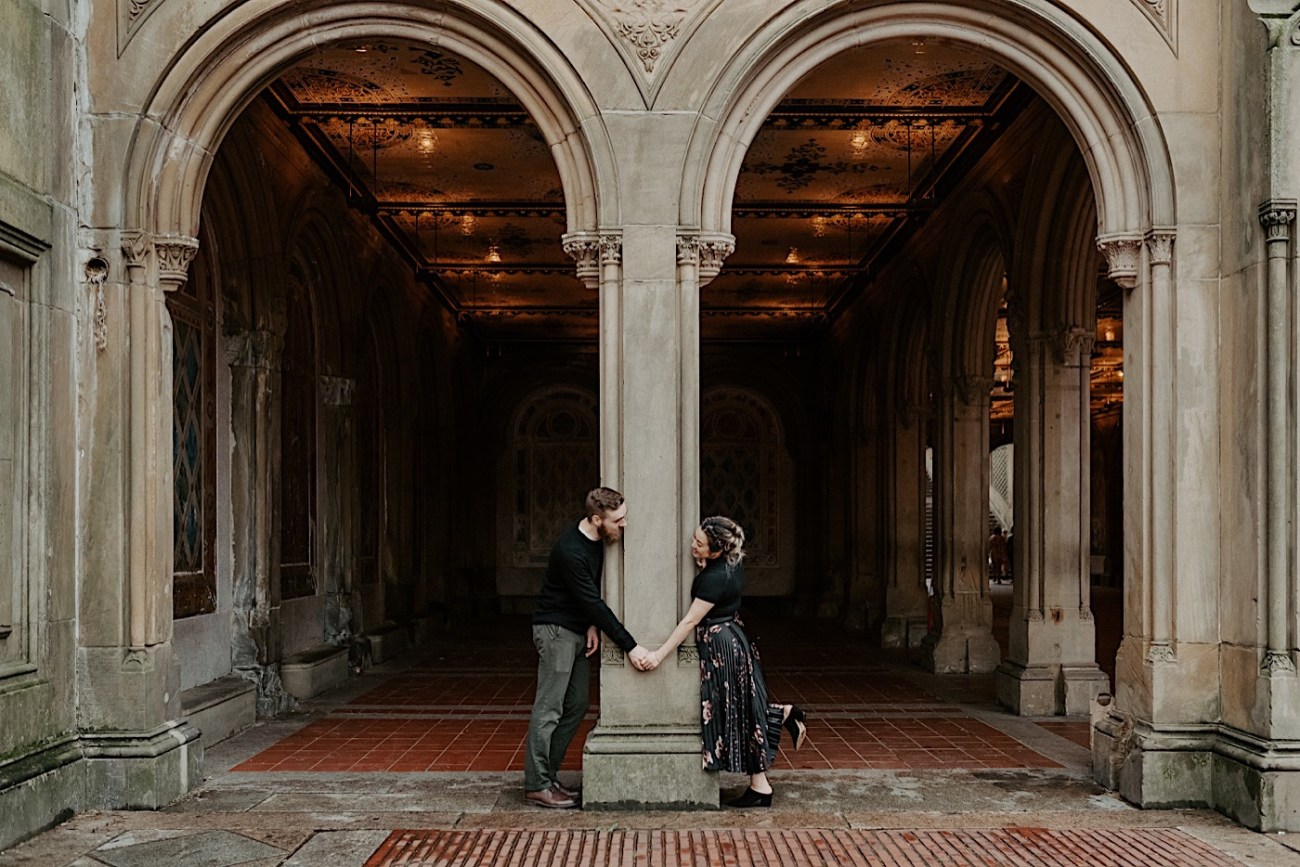 Bethesda Fountain Engagement Session NYC Engagement Photos New York Wedding Photographer 01