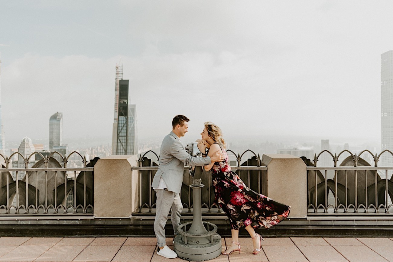 Top Of The Rock Engagement Session NYC Engagement Locations New York Wedding Photographer 11