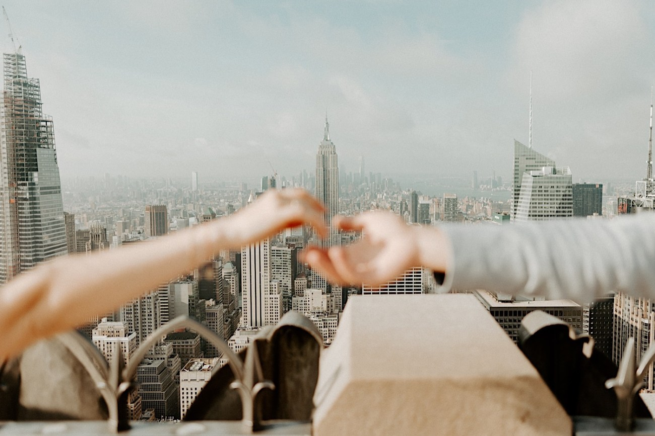 Top Of The Rock Engagement Session NYC Engagement Locations New York Wedding Photographer 14
