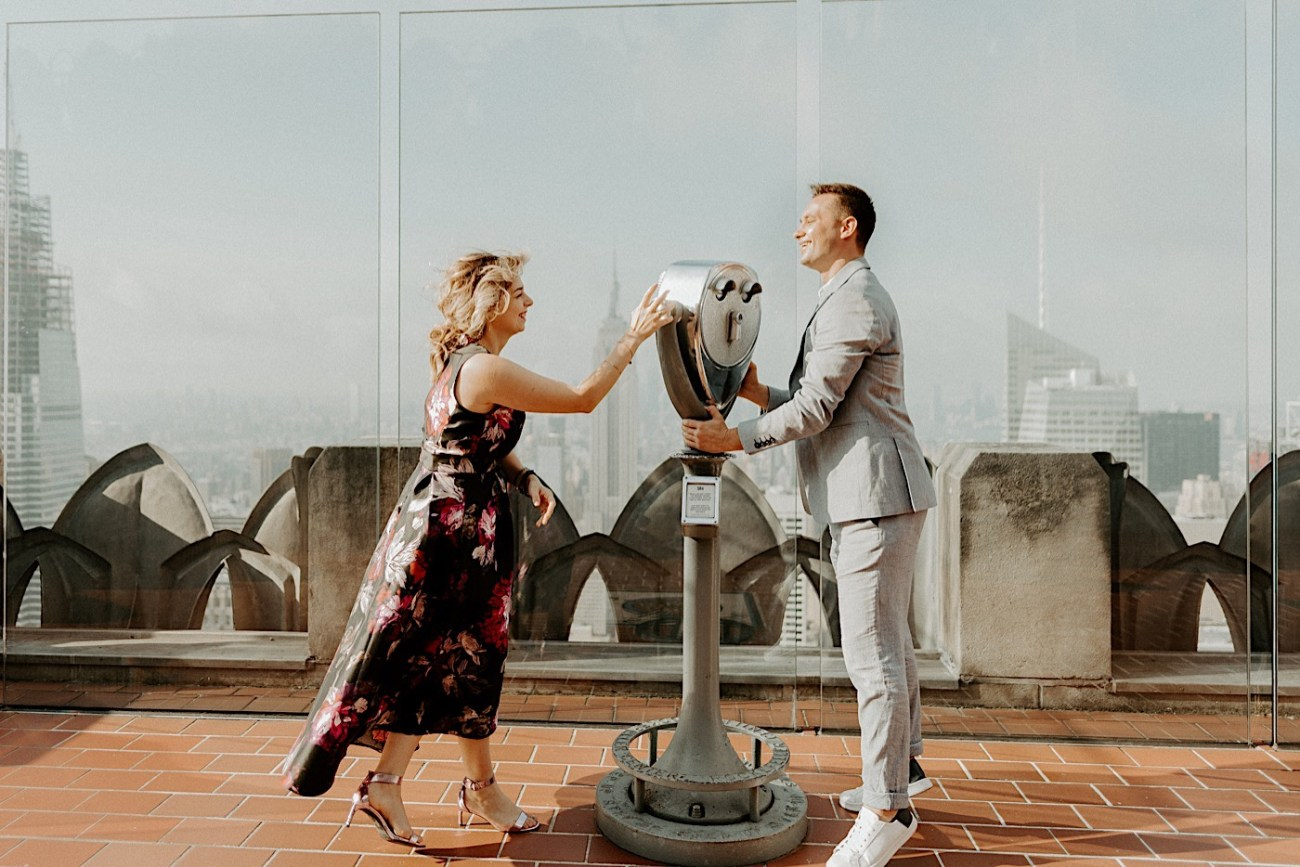 Top Of The Rock Engagement Session NYC Engagement Locations New York Wedding Photographer 19
