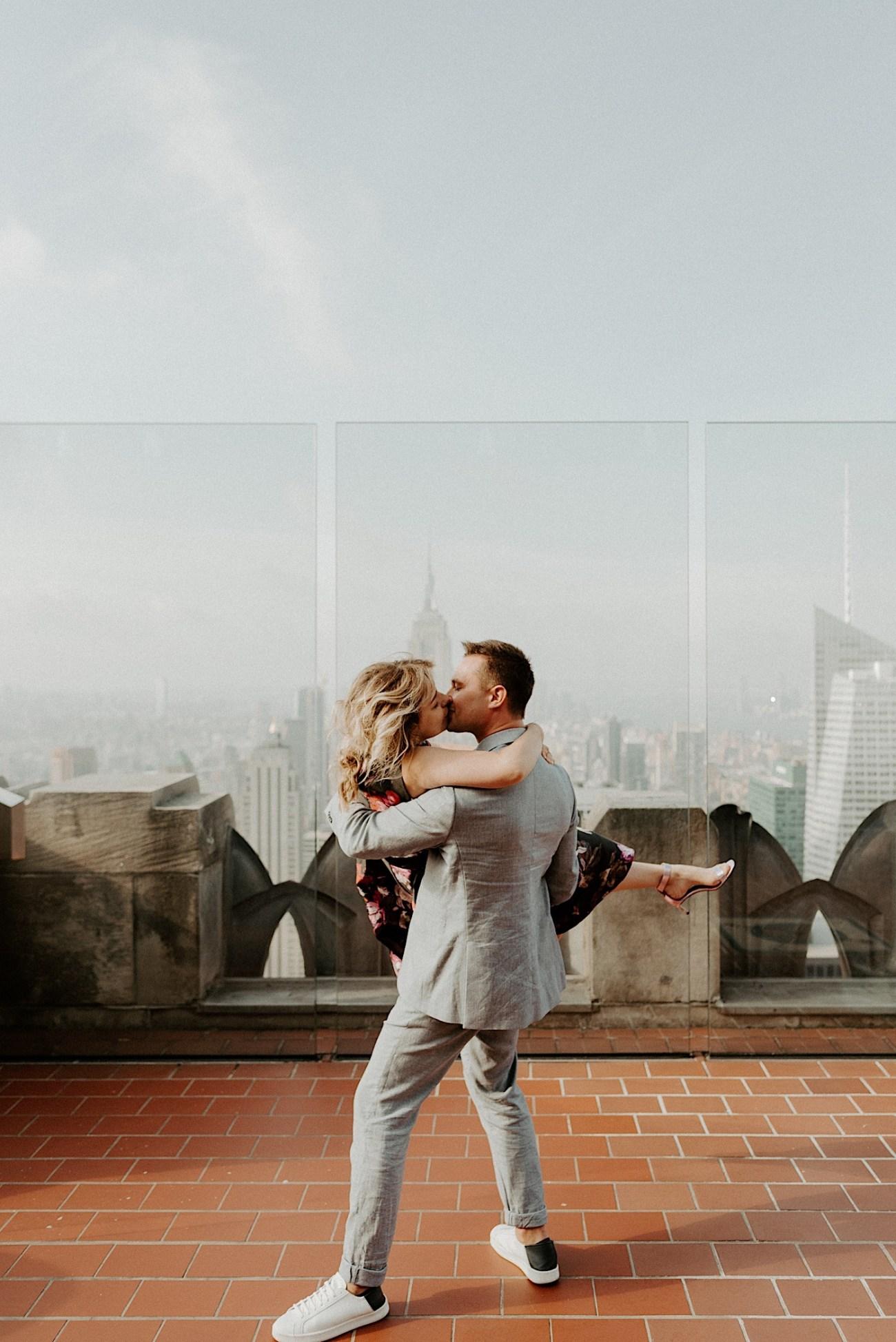 Top Of The Rock Wedding Anniversary NYC Engagement Locations New York Wedding Photographer 31