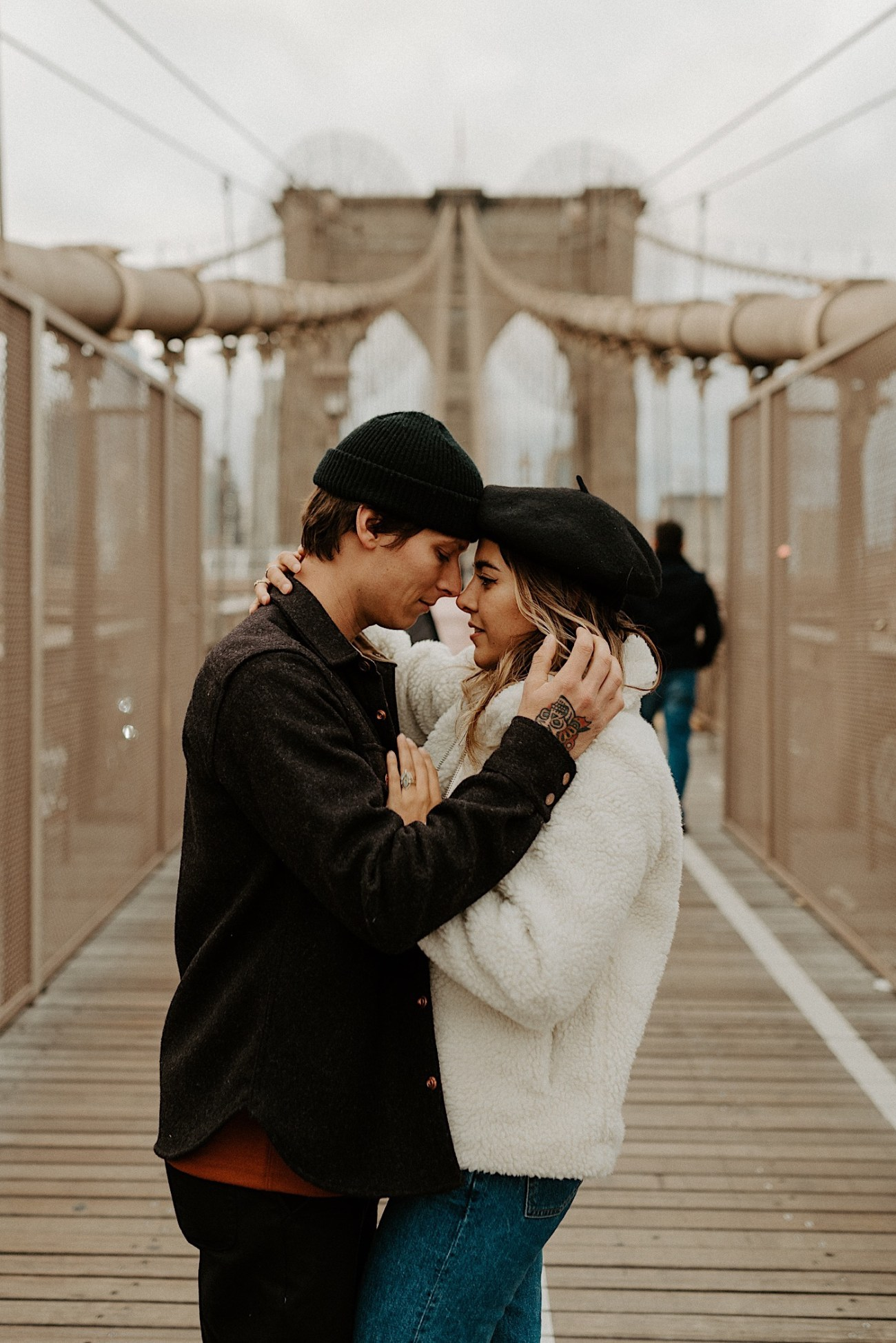Brooklyn Bridge Engagement Photos Brooklyn Engagement Session 009