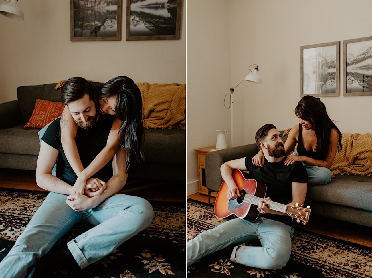 Brooklyn In Home Engagement Session NYC Wedding Photographer 01