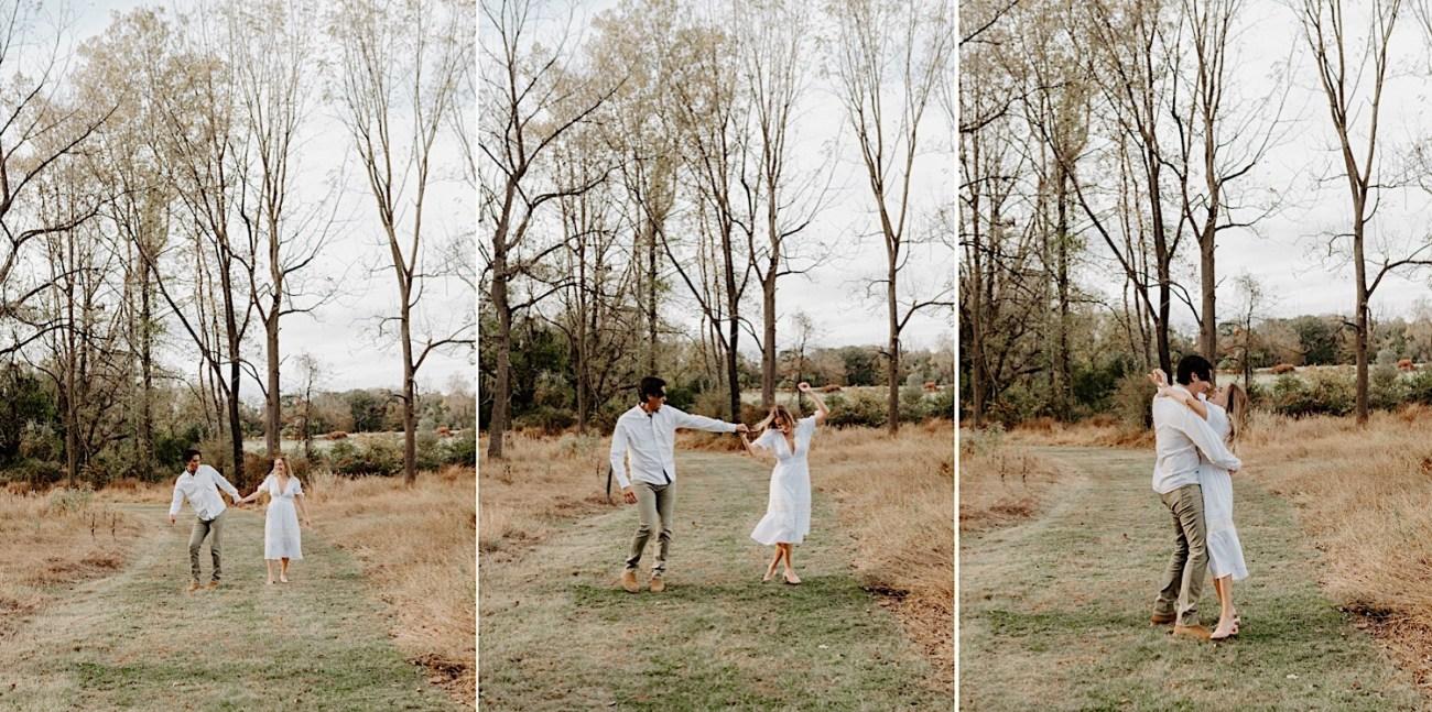 Fall Golden Field Enagement Session New Jersey Wedding Photographer 13