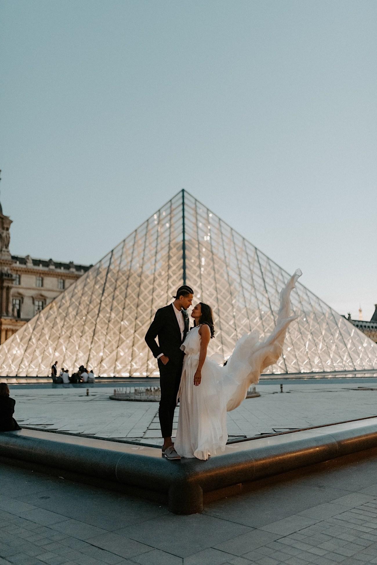 Paris Louvre Wedding Photos Paris Wedding Photographer Destination Wedding France Anais Possamai Photography 27