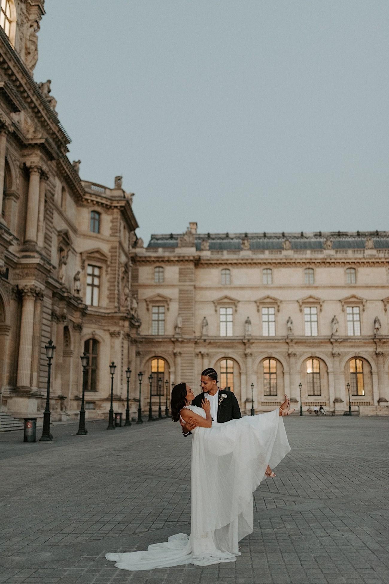 Paris Louvre Wedding Photos Paris Wedding Photographer Destination Wedding France Anais Possamai Photography 29