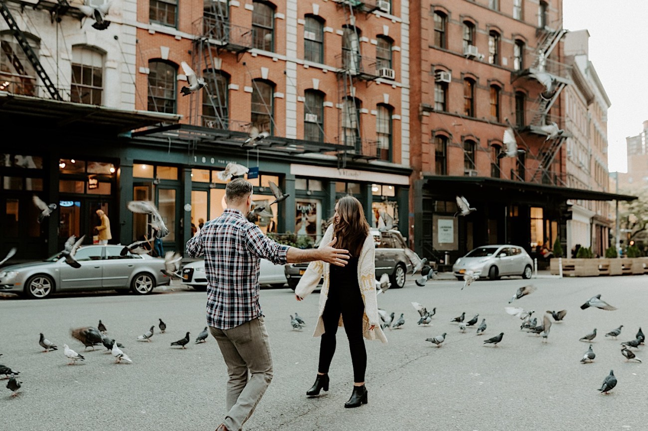 Tribeca Engagement Session NYC Engagement Photos New York Wedding Photographer 14