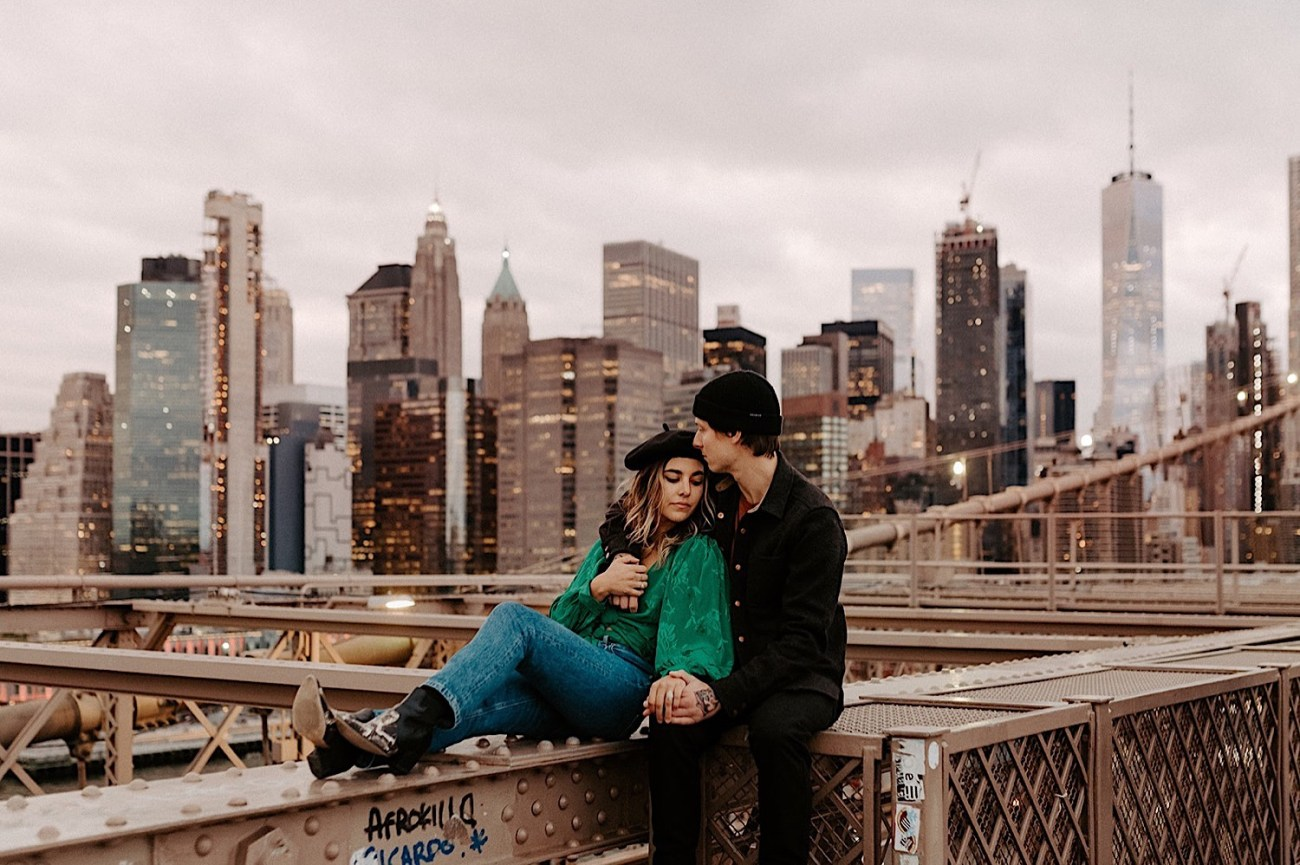 005 Brooklyn Bridge Engagement Photos Brooklyn Engagement Session NYC Wedding Photographer