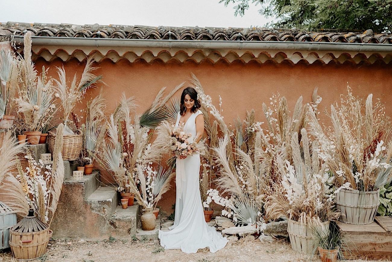 016 Terre Ugo Wedding Provence Wedding Destination Wedding France Provence Wedding Photographer Lavender Field Wedding Photos Dry Flower Wedding Inspiration Boho Wedding