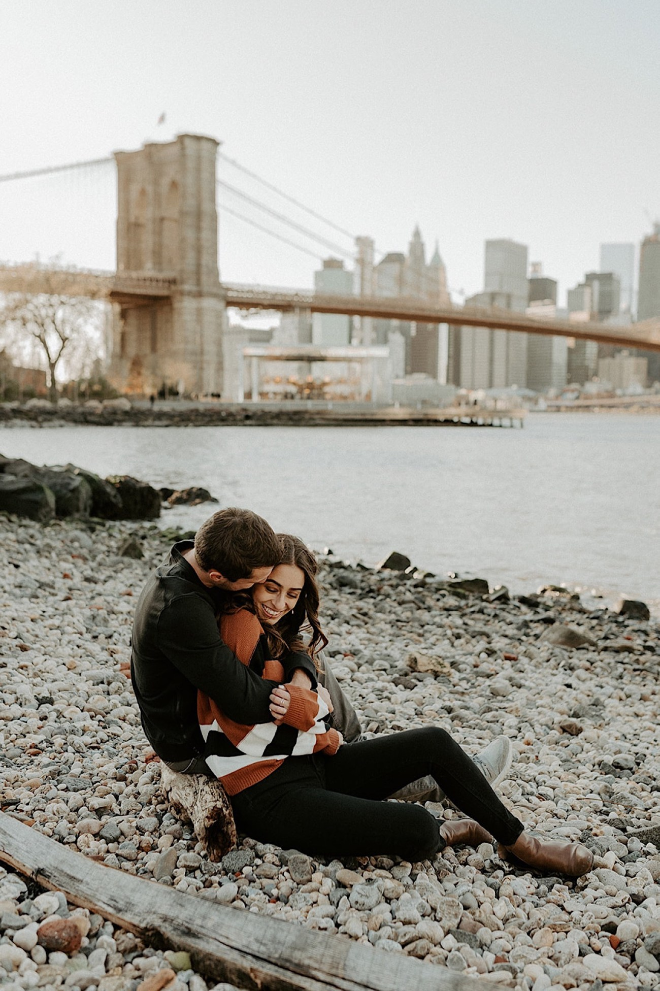 068 Brooklyn Bridge Engagement Photos Brooklyn Engagement Session NYC Wedding Photographer Pebble Beach Dumbo