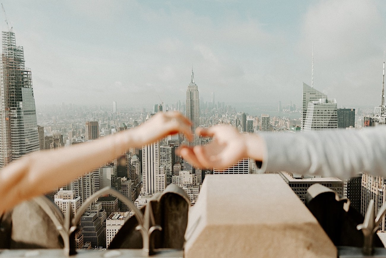 121 Top Of The Rock Engagement Photos NYC Engagement New York Wedding Photographer