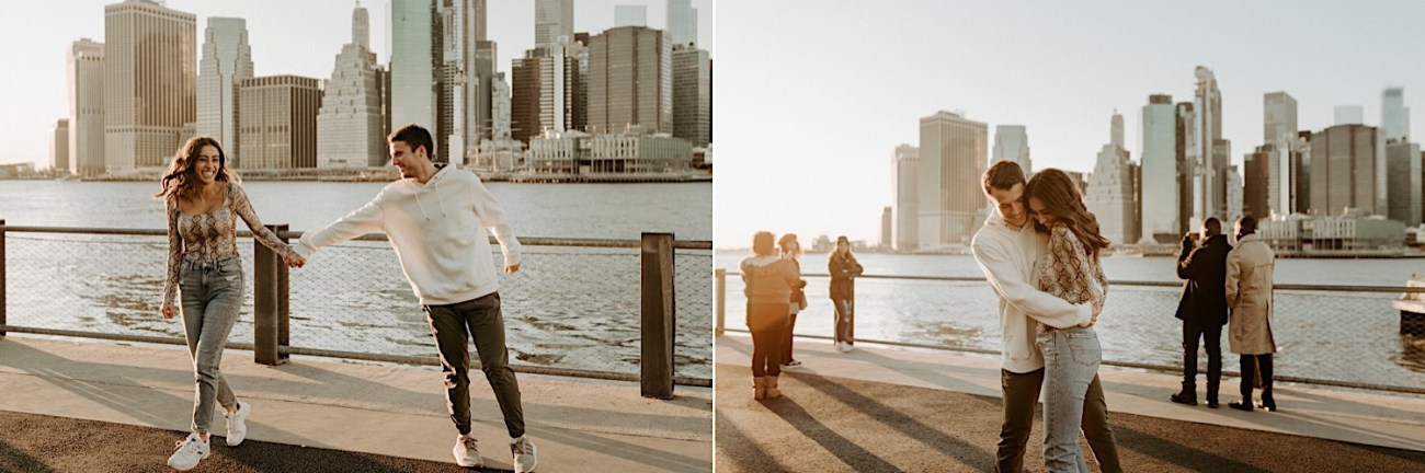Brooklyn Bridge Sunset Engagement Photos New York City Wedding Photographer 025