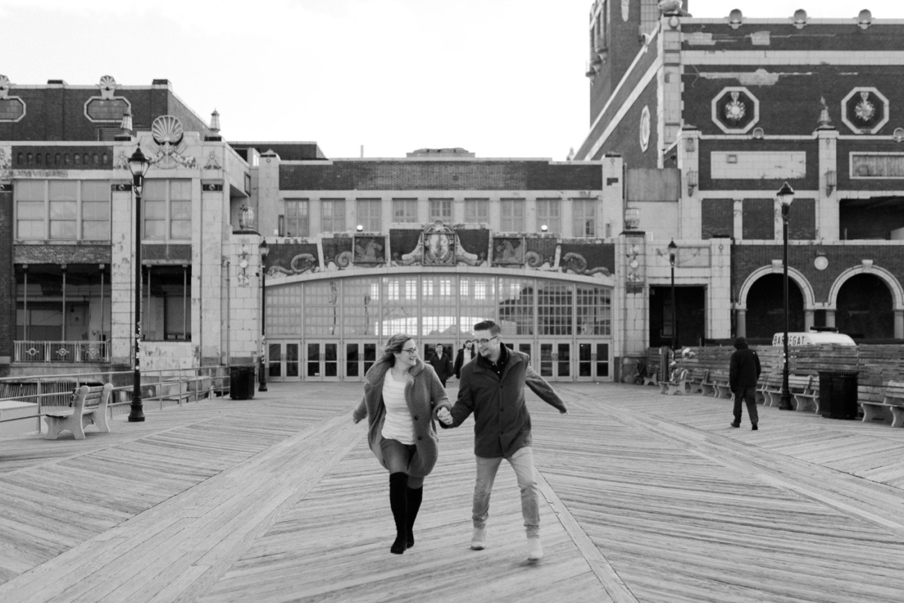 Asbury Park Engagement Photos Winter Beach Engagement Session New Jersey Wedding Photographer Anais Possamai Photography 003