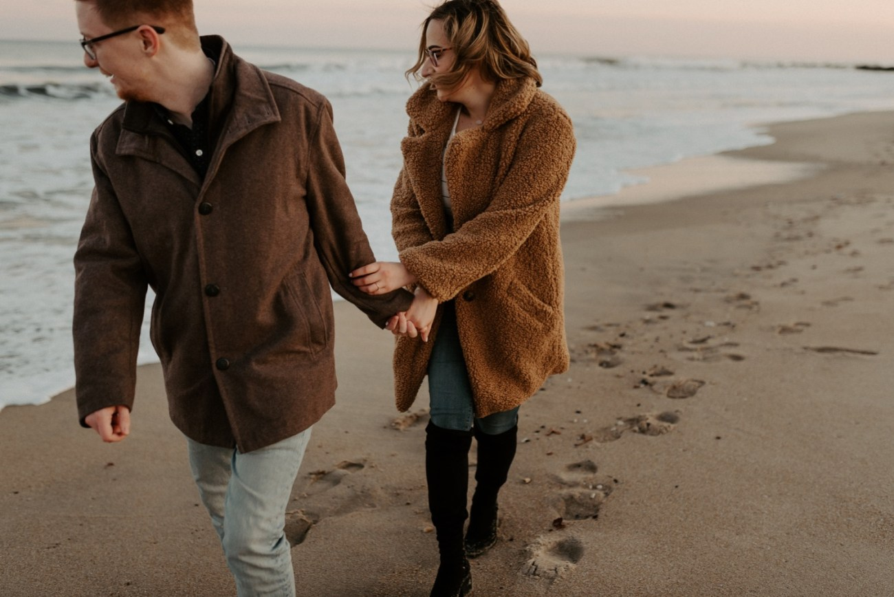 Asbury Park Engagement Photos Winter Beach Engagement Session New Jersey Wedding Photographer Anais Possamai Photography 038