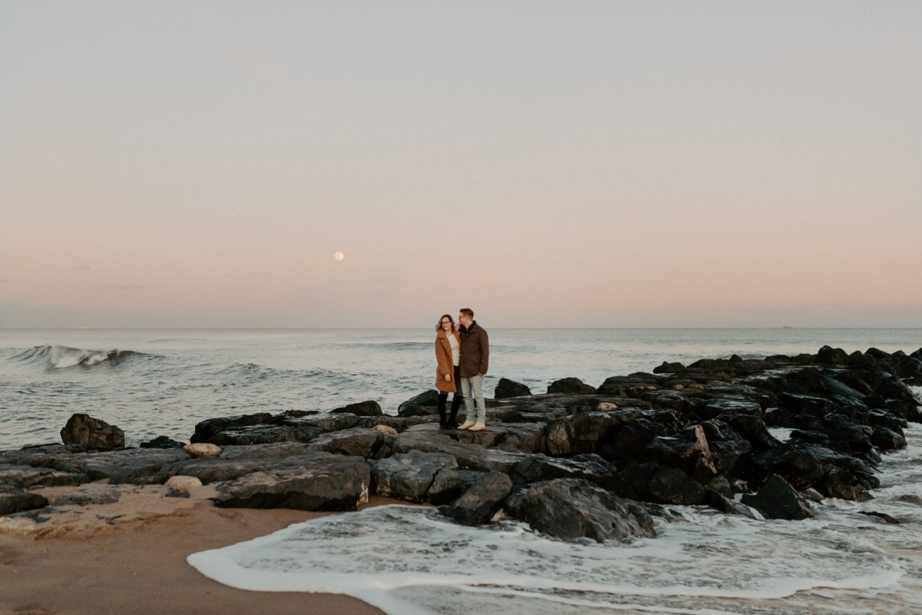 Asbury Park Engagement Photos Winter Beach Engagement Session New Jersey Wedding Photographer Anais Possamai Photography 041