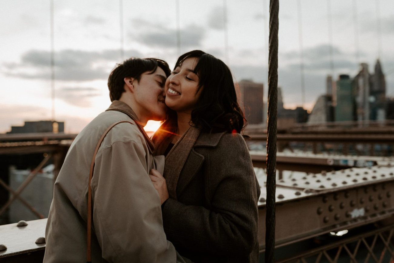 Brooklyn Bridge Sunset Couple Session New York Wedding Photographer NYC Best Engagement Photos Location Anais Possamai Photography 11