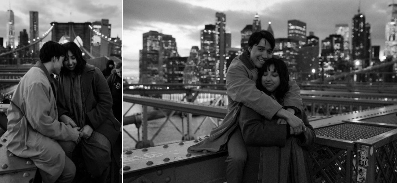 Brooklyn Bridge Sunset Couple Session New York Wedding Photographer NYC Best Engagement Photos Location Anais Possamai Photography 17