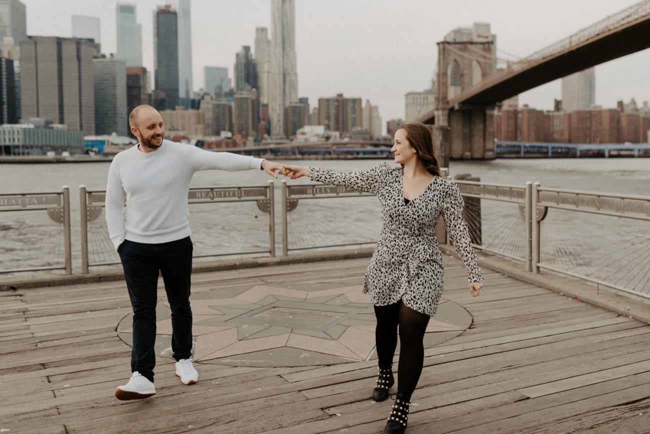 Brooklyn Bridge Engagement Photos Brooklyn Dumbo Couple Session NYC Wedding Photographer Anais Possamai Photography 07