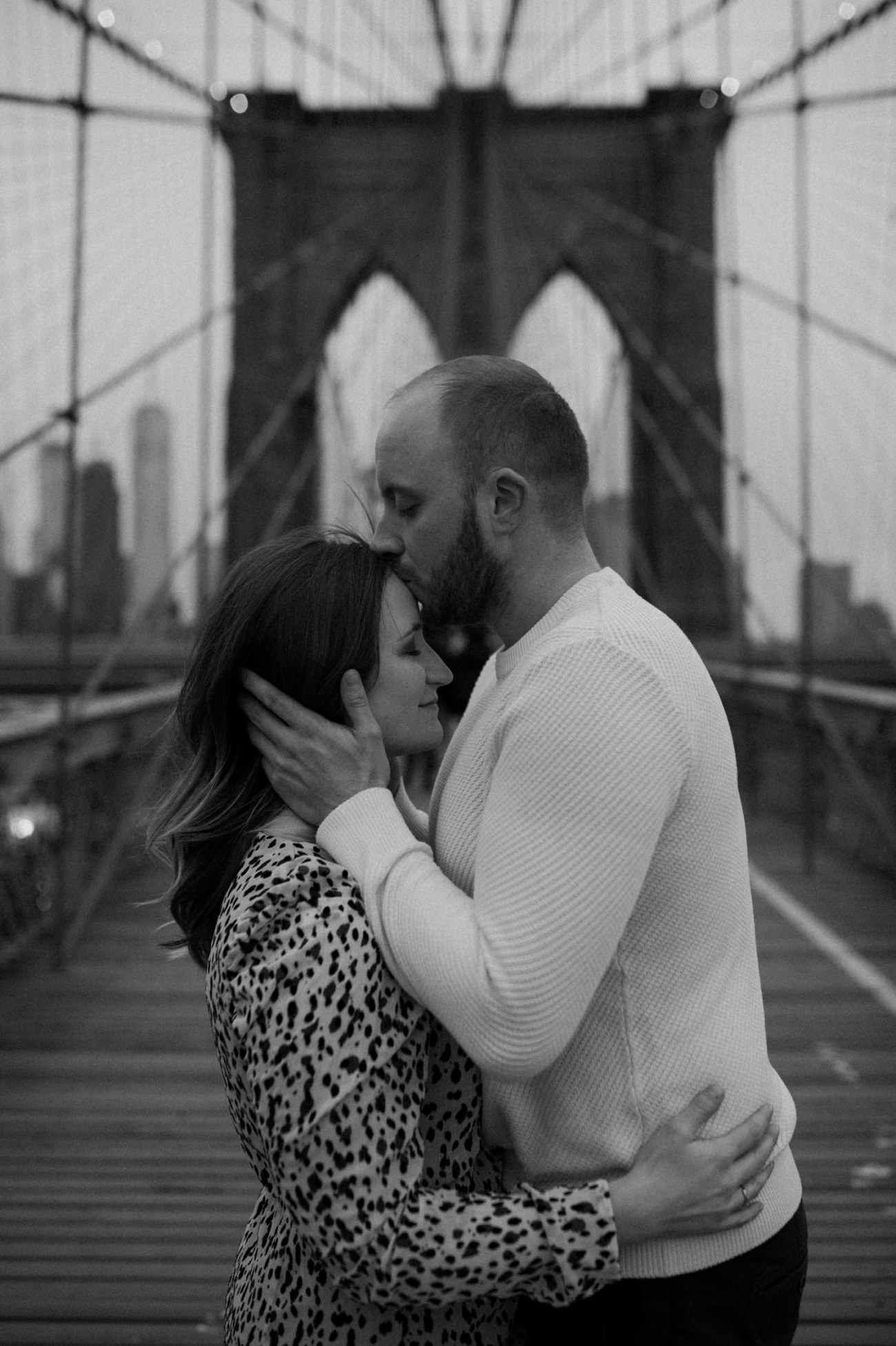 Brooklyn Bridge Engagement Photos Brooklyn Dumbo Couple Session NYC Wedding Photographer Anais Possamai Photography 10
