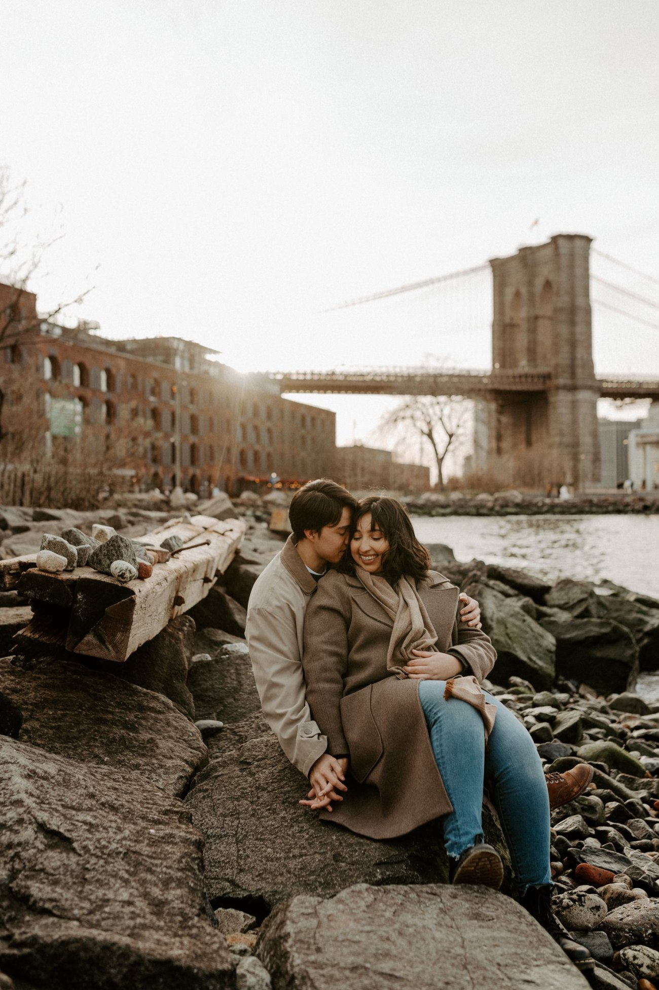 Dumbo Brooklyn Engagement Photos New York City Couple Session New York Wedding Photographer NYC Best Engagement Photos Location Anais Possamai Photography 35