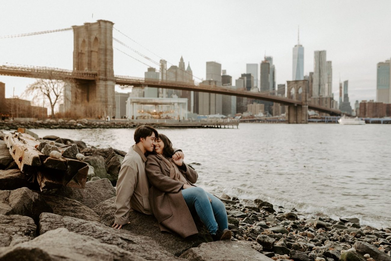Dumbo Brooklyn Engagement Photos New York City Couple Session New York Wedding Photographer NYC Best Engagement Photos Location Anais Possamai Photography 36