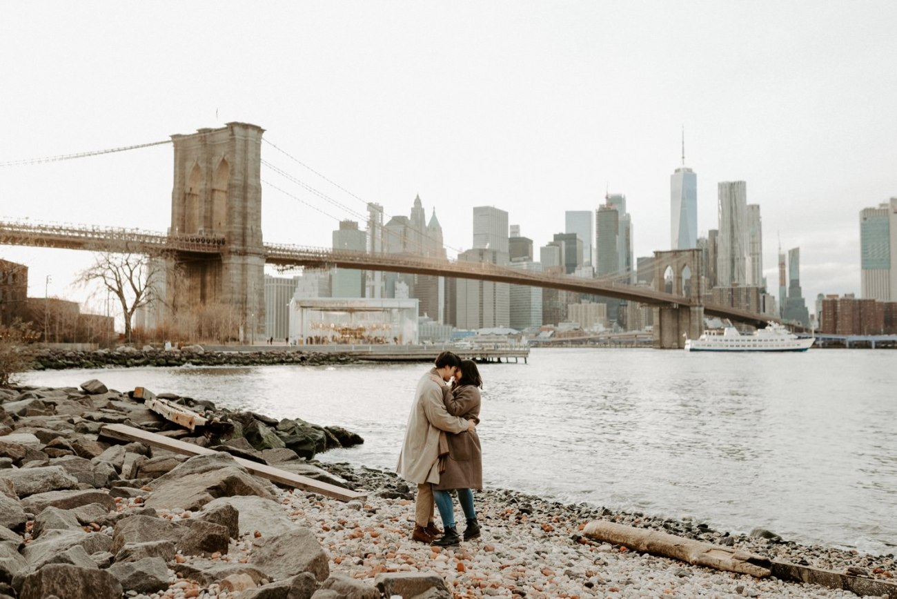 Dumbo Brooklyn Engagement Photos New York City Couple Session New York Wedding Photographer NYC Best Engagement Photos Location Anais Possamai Photography 40