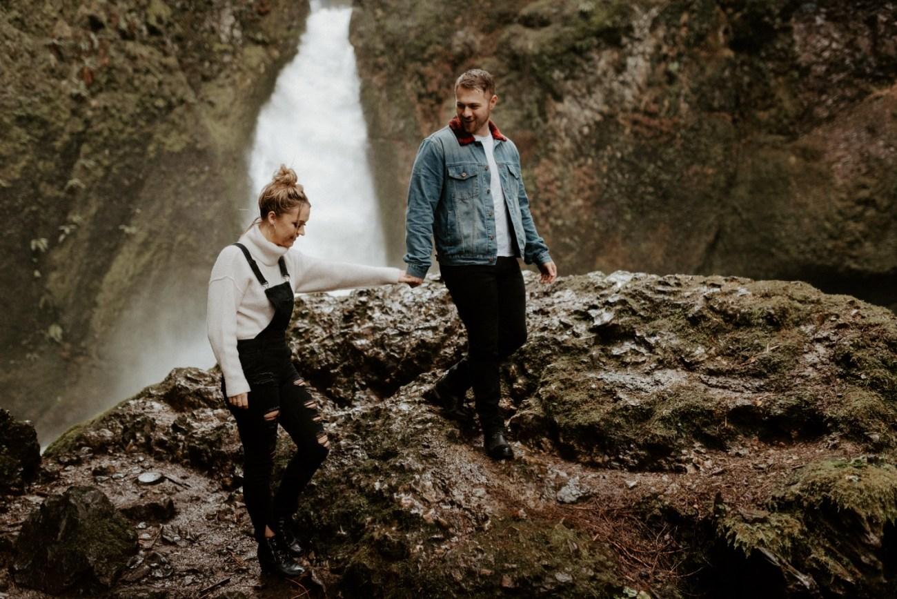 Wahclella Falls Engagement Session Columbia River Gorge Oregon Portland Wedding Photographer Anais Possamai Photography 026